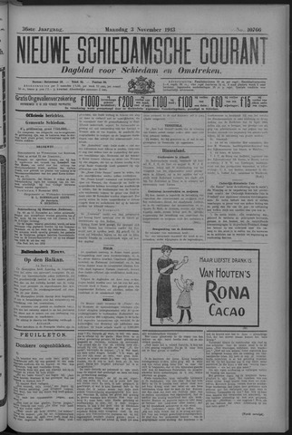 Nieuwe Schiedamsche Courant 1913-11-03