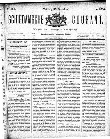 Schiedamsche Courant 1885-10-30