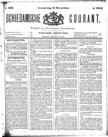 Schiedamsche Courant 1885-11-12