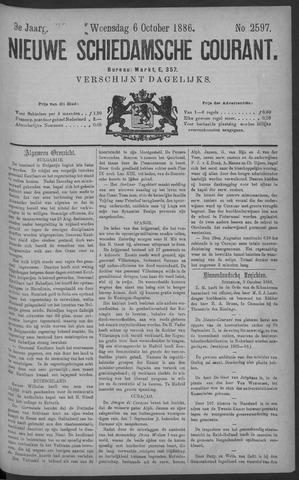 Nieuwe Schiedamsche Courant 1886-10-06