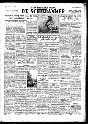 Rotterdamsch Parool / De Schiedammer 1948-01-07