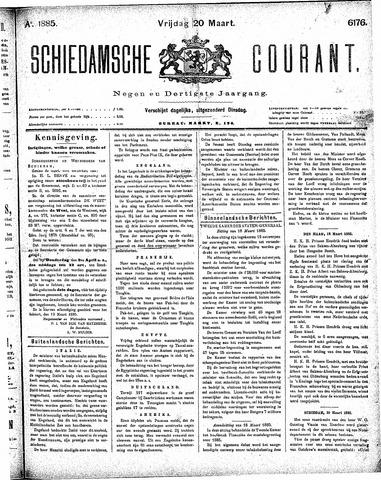 Schiedamsche Courant 1885-03-20