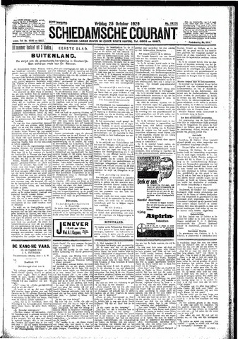Schiedamsche Courant 1929-10-25