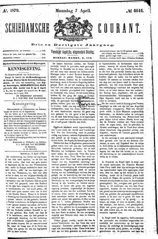 Schiedamsche Courant 1879-04-07