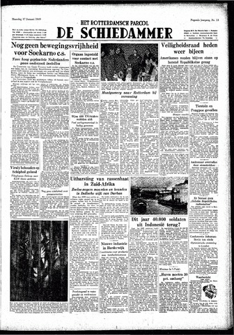 Rotterdamsch Parool / De Schiedammer 1949-01-17