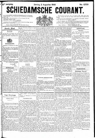 Schiedamsche Courant 1908-08-02
