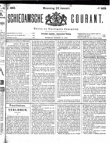 Schiedamsche Courant 1883-01-22