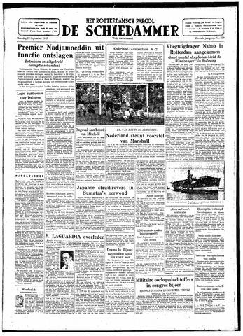 Rotterdamsch Parool / De Schiedammer 1947-09-22