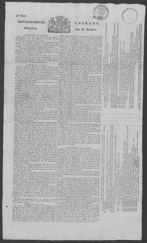 Rotterdamse Courant 1841-10-26