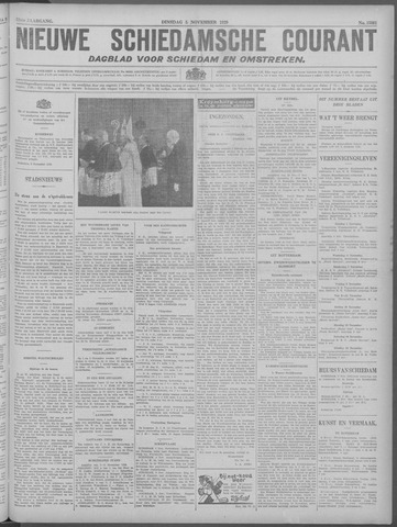 Nieuwe Schiedamsche Courant 1929-11-05