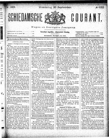 Schiedamsche Courant 1885-09-30
