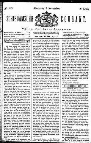 Schiedamsche Courant 1881-11-07