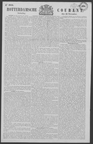 Rotterdamse Courant 1851-11-29