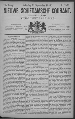 Nieuwe Schiedamsche Courant 1886-09-11