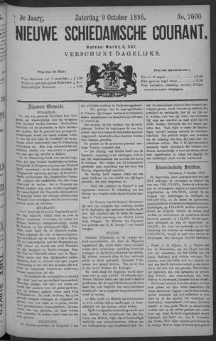 Nieuwe Schiedamsche Courant 1886-10-09