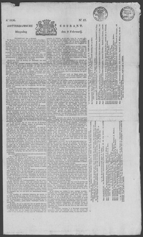 Rotterdamse Courant 1836-02-09