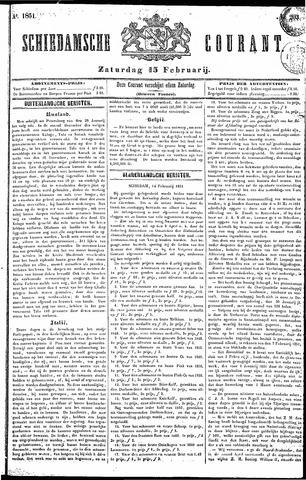 Schiedamsche Courant 1851-02-15