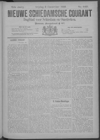 Nieuwe Schiedamsche Courant 1892-12-02