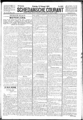 Schiedamsche Courant 1927-02-12