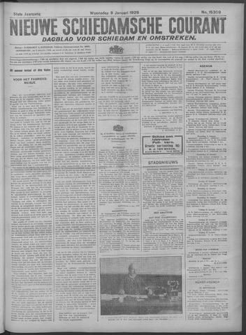 Nieuwe Schiedamsche Courant 1929-01-09