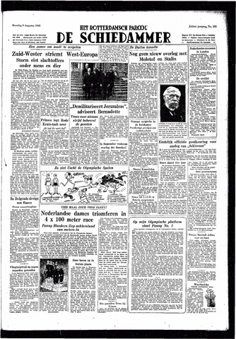 Rotterdamsch Parool / De Schiedammer 1948-08-09