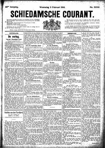 Schiedamsche Courant 1916-02-09