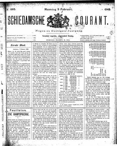 Schiedamsche Courant 1885-02-09