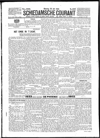 Schiedamsche Courant 1933-07-25