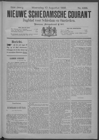 Nieuwe Schiedamsche Courant 1892-08-10