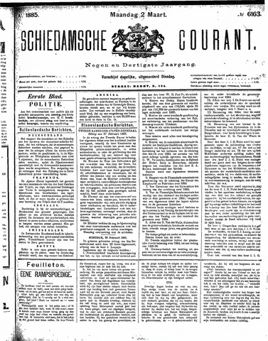 Schiedamsche Courant 1885-03-02