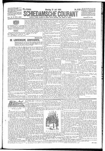 Schiedamsche Courant 1931-07-21