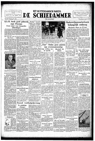 Rotterdamsch Parool / De Schiedammer 1947-04-16
