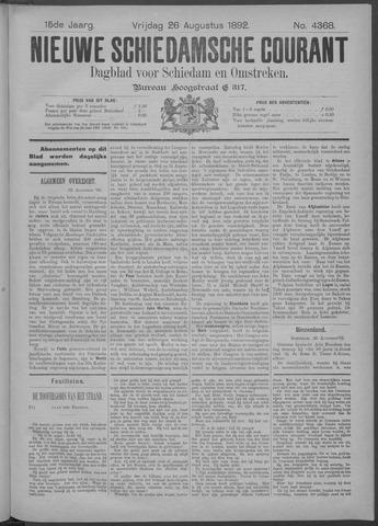 Nieuwe Schiedamsche Courant 1892-08-26