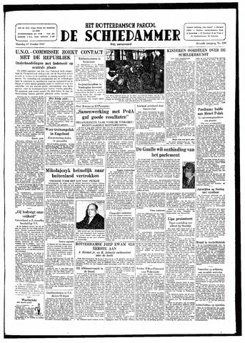 Rotterdamsch Parool / De Schiedammer 1947-10-27