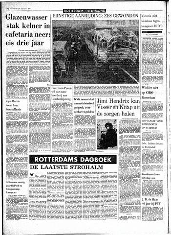 Rotterdamsch Parool / De Schiedammer 1970-09-02