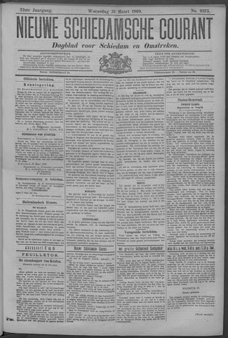 Nieuwe Schiedamsche Courant 1909-03-31