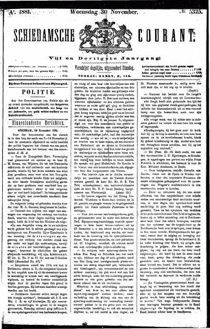 Schiedamsche Courant 1881-11-30