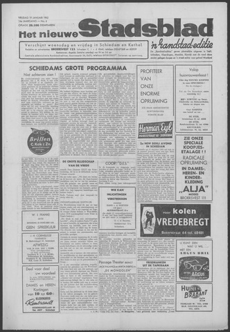 Het Nieuwe Stadsblad 1962-01-19