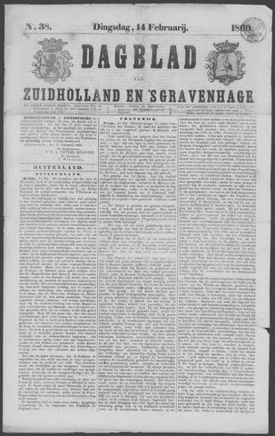 Dagblad van Zuid-Holland 1860-02-14