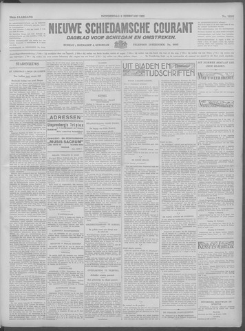Nieuwe Schiedamsche Courant 1933-02-09