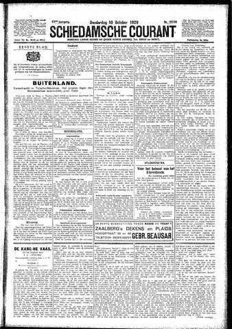 Schiedamsche Courant 1929-10-10