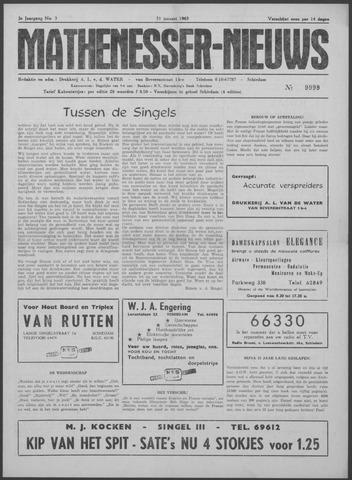 Mathenesser Nieuws 1963-01-31