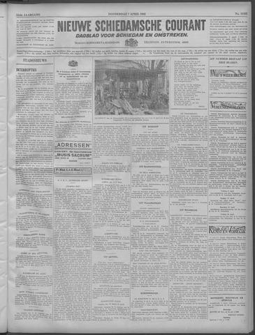 Nieuwe Schiedamsche Courant 1932-04-07