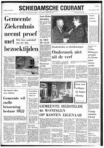 Rotterdamsch Nieuwsblad / Schiedamsche Courant / Rotterdams Dagblad / Waterweg / Algemeen Dagblad 1974-01-09