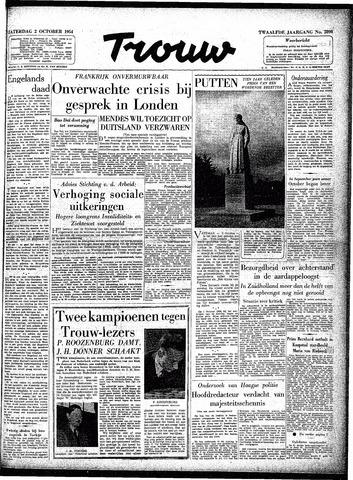 Trouw / De Rotterdammer 1954-10-02