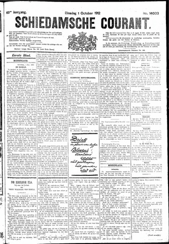 Schiedamsche Courant 1912-10-01