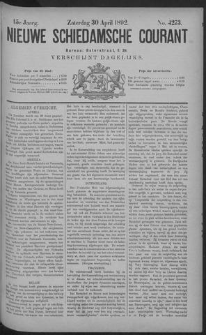 Nieuwe Schiedamsche Courant 1892-04-30