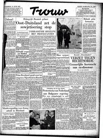 Trouw / De Rotterdammer 1953-06-11