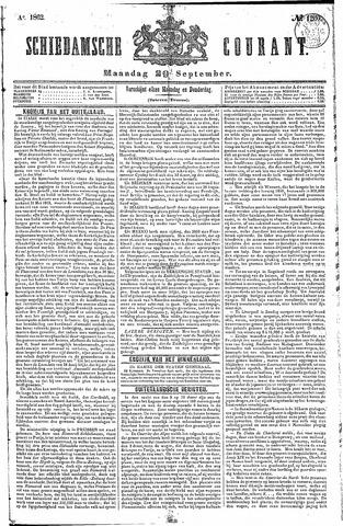 Schiedamsche Courant 1862-09-29