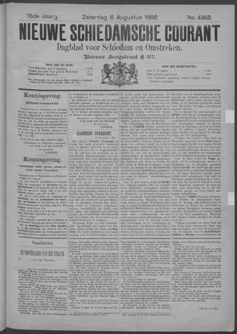 Nieuwe Schiedamsche Courant 1892-08-06